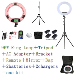 Yidoblo FE-480II Bio-color Ring Lamp 480 LED Lamp Photography Beauty salon nail Makeup selfie Lighting + stand+bag + battery