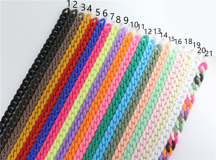 Acrylic Glasses Chain Multi-color Statement Casaul Statement Long glasses strap lanyards holder Hip Hop accessories Jewelry