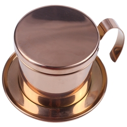 Wietnamski filtr do kawy ze stali nierdzewnej pojedyncza filiżanka wietnam wytłaczany ręcznie garnek kroplówki filtr dzbanek do kawy wietnamski dzbanek do kawy kroplówki Fil