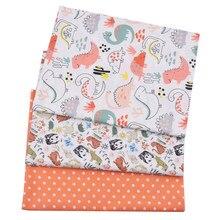 A sarja impressa do algodão do animal 100% do dinossauro caçoa a tela, pano de retalhos, diy costura estofando materiais da folha de cama para o bebê & a criança