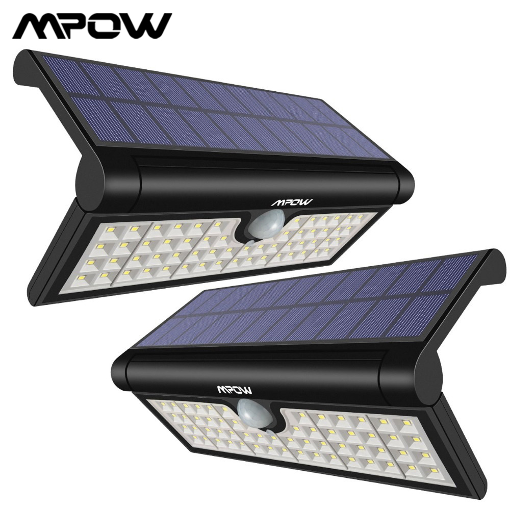 Weatherproof Mpow 58 LED Foldable Solar Lights Driveway Yard Motion Sensor Bright Wall Lights Great Outdoor Light for Camping 120/° Wide Angle Motion Sensor Garden