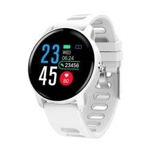 Senbono S08フィットネスブレスレット血圧屋外ipsスクリーン心拍数モニターIP68防水腕時計スマートリストバンドios