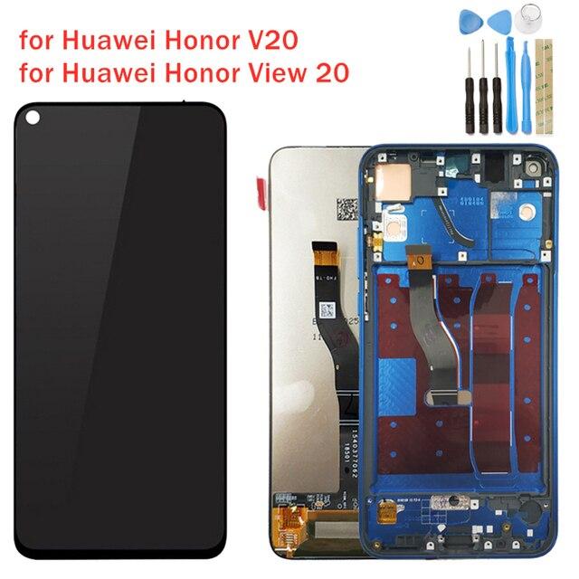 Original Huawei Honor View 20 Pantalla LCD pantalla táctil digitalizador Asamblea Honor V20 pantalla LCD 10 Touch piezas de reparación