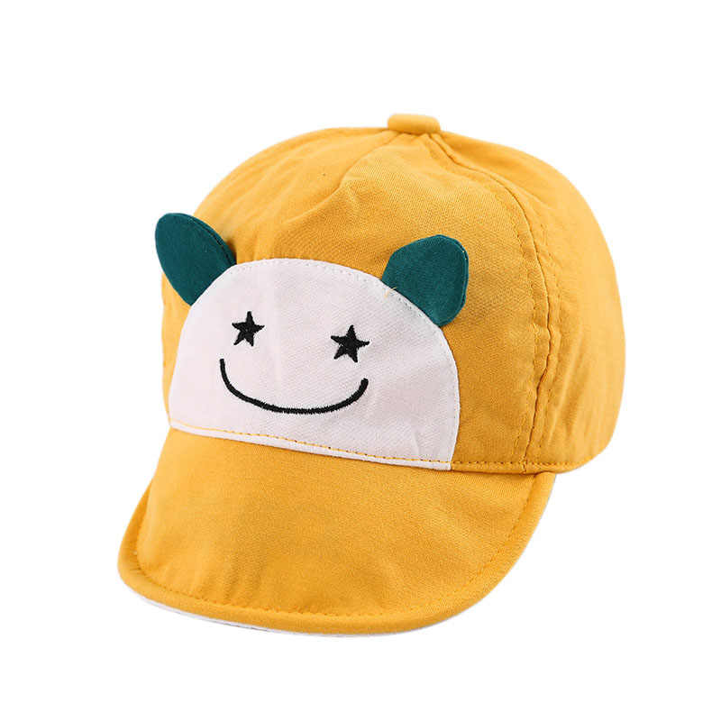 Newly Spring Autumn Kid Baseball Cap Soft Brim Cotton Hello Cute Hat Newborn Infant Boy Girl Peaked Caps For 6-24 Months Baby IR
