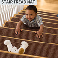 Ins Popular Floor Mats Living Room Carpet Anti-slip Stripe Solid Color Self-adhesive Stair Foot Pad Washable Soft Safety Rug