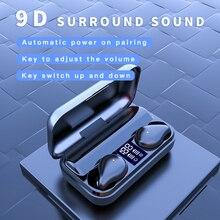 Смарт-сенсорный Bluetooth-гарнитура в-ухо беспроводная автоматическое подключение шумоподавления водонепроницаемый