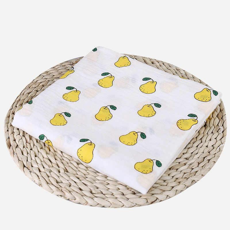 1 piezas 100% algodón muselina Baby Swaddles suave recién nacido mantas de baño gasa infantil envoltura Sleepsack cochecito cubierta Play Mat