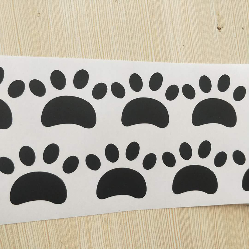 22pcs//set Dog Paw Wall Vinyl Decal Stickers Ideal for Home Cars Fridges Stickers