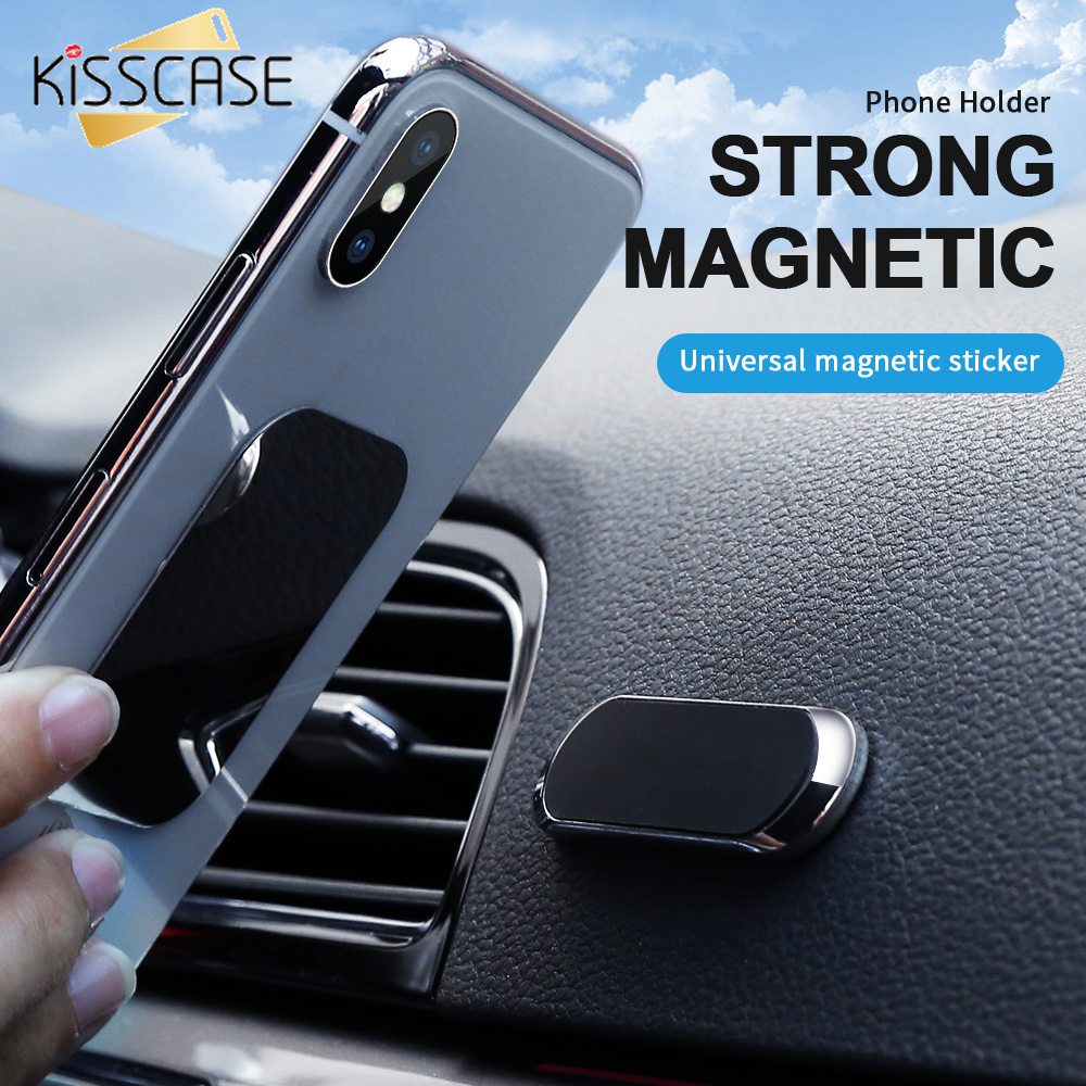 KISSCASE Magnetic Car Phone Holder For IPhone 7 Samsung A50 Wall Metal Magnet GPS Car Mount Holder For Xiaomi 9t Huawei P20 Lite