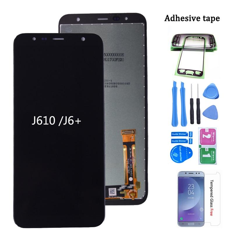 Original para Samsung Galaxy J6 + 2018 J610 SM J610F J610FN pantalla LCD de montaje de pantalla táctil para Samsung J6 plus de pantalla lcd|Pantallas LCD para teléfonos móviles|   - AliExpress