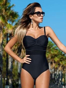 2020 sexy one-piece swimwear push-up ladies stitching Monokini adjustable shoulder swimsuit