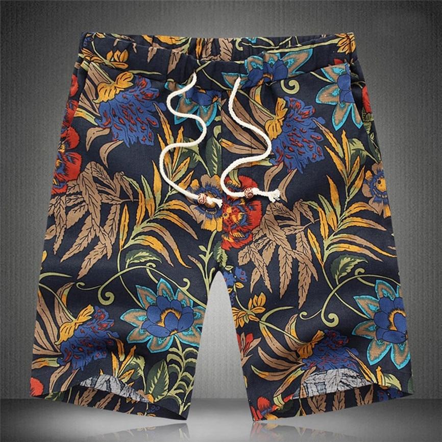 Men's Shorts Swim Trunks Quick Dry Men's Summer Shorts Sports Work Casual Printed Beach Shorts Pants Trousers Streetwear