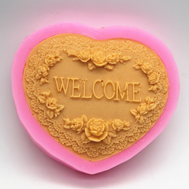 Silicone Soap Mold Heart Flower Aromatherapy Plaster Clay Crafts Chocolate Cake Baking Mould DIY Fondant Decorating Tools
