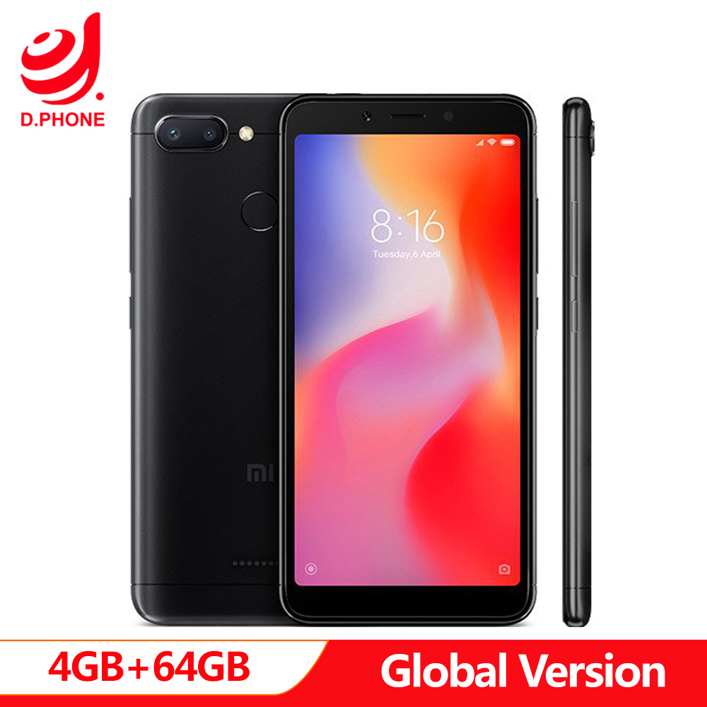 Versão global original xiaomi redmi 6 4 gb ram 64 gb rom 5.45
