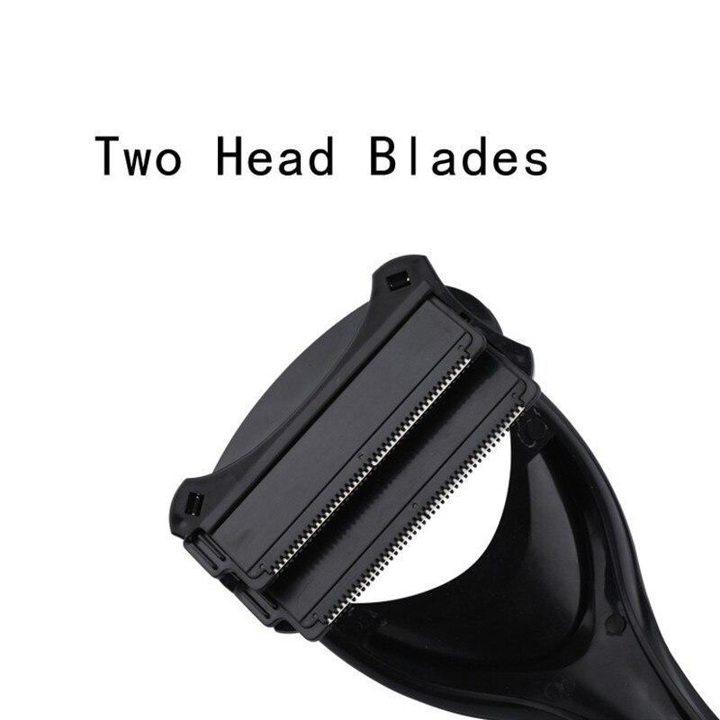 Men Back Hair Removal Body Shaver Trimmer Body Leg Razor Long Handle Razor 2 Blades Manual Hair Remover Portable Depilation Tool 2