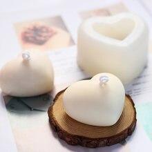 3d любовь силиконовая форма Сердце diy для свеч изготовление
