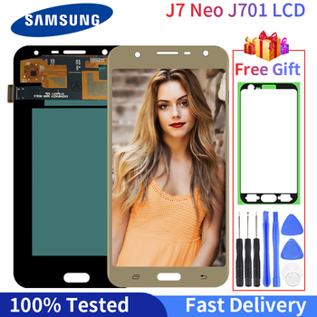 Original LCD Display For Samsung Galaxy J7 neo J701 J701F  LCD Display Touch Screen Digitizer Assembly Replacement Parts for samsung galaxy j3 2017 j330 lcd display touch screen digitizer replacement for samsung j330f sm j330f phone parts freetools