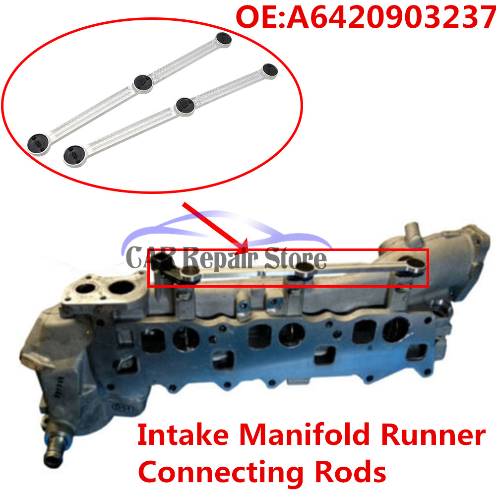 Car Part Intake Manifold Runner Connecting Rods For Mercedes Diesel 3.0L Repair Chrysler <font><b>OM642</b></font> A6420903237 6420907737 64209032 image
