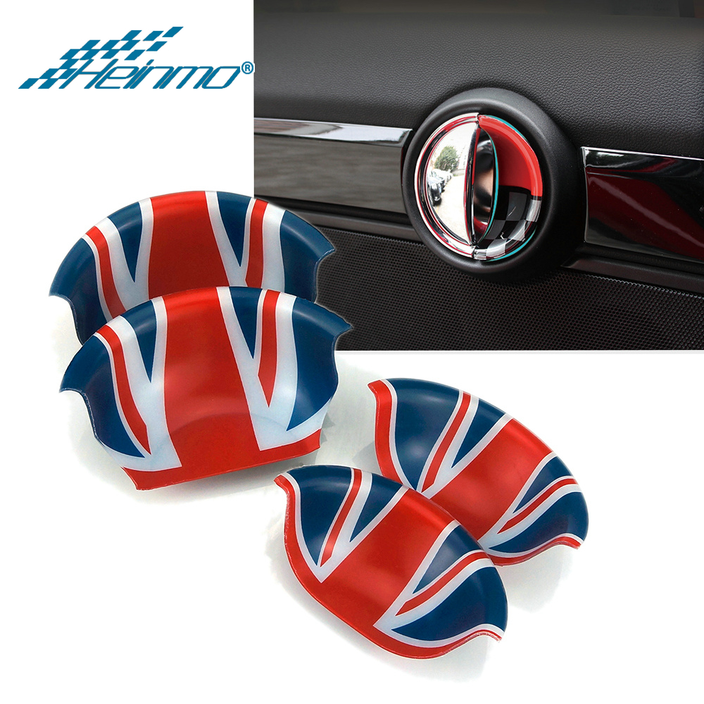 For MINI Cooper F56 F55 F54 F60 Clubman Countryman Car Interior Door Handle Decoration Cover Sticker For MINI Cooper Accessories