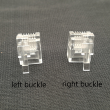 100 unids/lote conector R12 6P6C hebilla derecha hebilla izquierda cable enchufe cristal cabeza