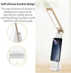 Panasonic LED Настольный светильник с сенсорным сенсором, Складная Настольная лампа, портативный USB Перезаряжаемый светильник для чтения, ночной прикроватный светильник
