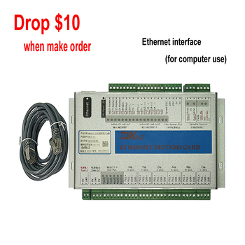 цена на New Ethernet Port 2MHz Mach3 CNC Motion Control Card MK3 MK4 MK6 Controller Engraving Machine Wood Router Breakout Board