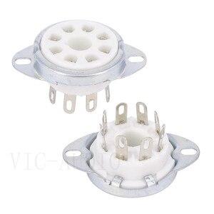 Image 2 - 10 sztuk 8Pins Big otwór rury gniazdo podstawa ceramiczna dla KT88 KT66 EL34 6SN7 GZ34 5881 6V6 5U4G 6550C wzmacniacz lampy elektronowej Audio HIFI