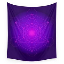 Metatron Cube Secret Geometry Platonic Matrix Protects Tapestry Wall Hanging Tapestries Throw Towel Sheet Table Cloth