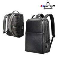 BOPAI Marke Laptop Rucksack Anti-diebstahl Rucksack Männer 15 Zoll Mikrofaser Schultern Reise Laptop Schule Tasche Rucksack Wasserdicht