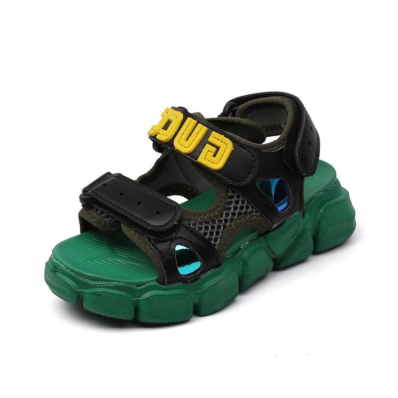 2019 Summer Kid's Shoes Sandals Hook & Loop Round Toe Neutral Flat Heels Non-slip 921