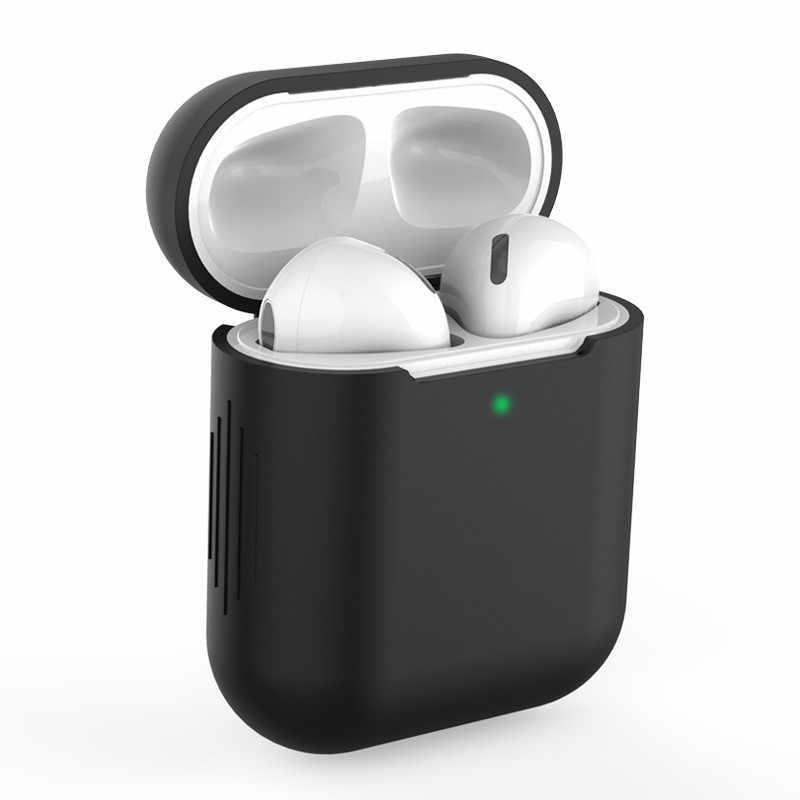 Airpods1에 대 한 새로운 실리콘 케이스 애플 Airpods 케이스 1 & 2 Shockproof 슬리브에 대 한 두 번째 럭셔리 보호 이어폰 커버 케이스