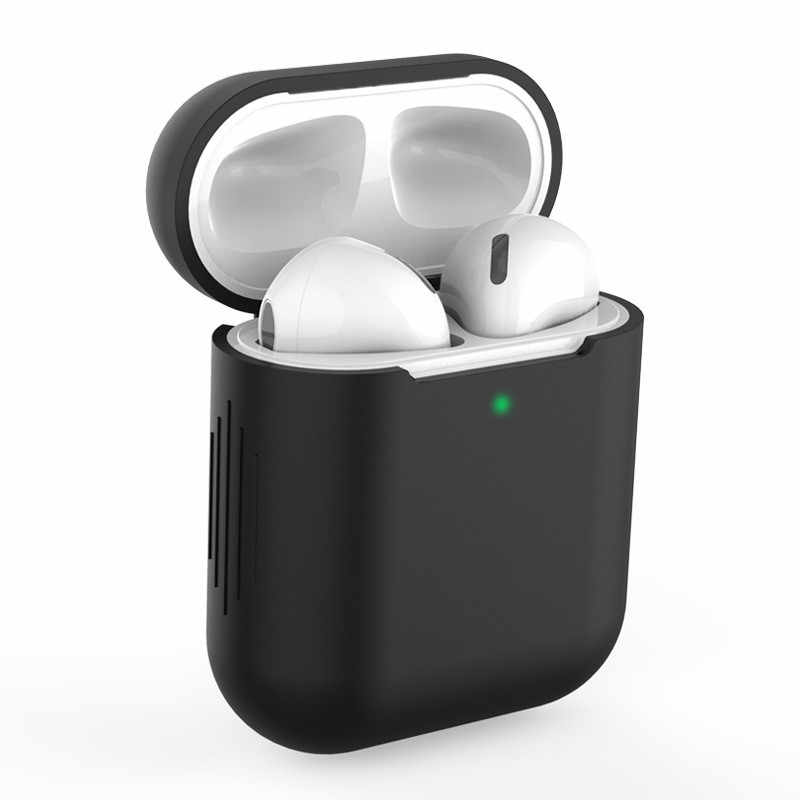 Nuovo Silicone Custodie per Airpods1 2nd Lusso di Protezione del Trasduttore Auricolare Della Copertura di Caso per Apple Caso Airpods 1 & 2 Antiurto Sleeve