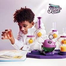 Ciência enlatada haste de alimentos brinquedos educativos conjunto experimental escola primária jardim de infância produção química materiais diy