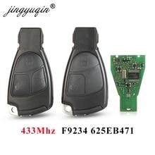 Jingyuqin 433Mhz 2/3 버튼 메르세데스 벤츠 B C E ML S CLK CL 3B 3BT Complte 컨트롤 키 1996 2005 용 NEC 원격 키 Fob