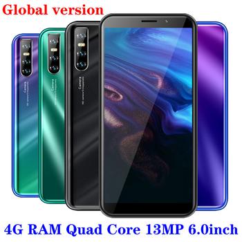K30 telefonów komórkowych 4GB pamięci RAM 64GB czterordzeniowy smartfonów telefonów komórkowych z systemem Android wersja globalna odblokowany Face ID 13MP kamera tylna 3G Wifi tanie i dobre opinie BYLYND Odpinany Nowy Rozpoznawania twarzy Do 48 godzin 3000 Adaptacyjne szybkie ładowanie Smartfony Klawiatura QWERTY Pojemnościowy ekran