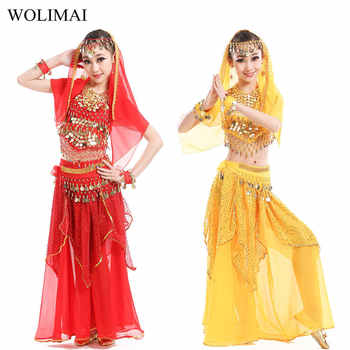 Belly Dance Costumes for Kids Girls Children Belly Dance Skirt Bollywood Dancing Dress Performance Competition Indian Cloth Set - DISCOUNT ITEM  46% OFF All Category
