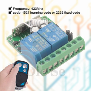 Image 3 - 433 315mhzのワイヤレスリモートコントロールスイッチdc 12v 10A 2CH rfリレー受信機と送信機をリモートスイッチガレージモータ制御