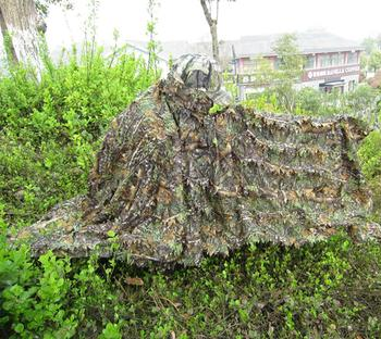 3D Leaves Cloak Dress Hunting Clothes Sniper Camouflage Ghillie Suit Maple Leaf Hunting Suit Ghillie Yowie Shooting Costume 3