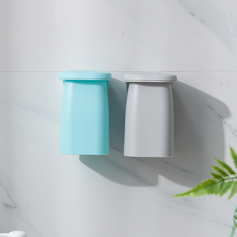 XiaoGui Magnetic Suction Mouthwash Wall-mounted Holder Simple Household Couple Set Tray Plastic
