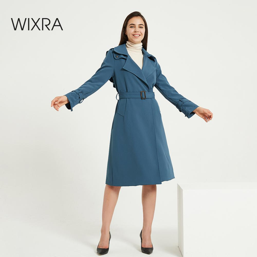 Wixra Womens Trench With Belts Classic Basic High