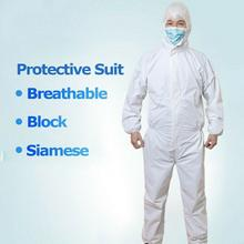 Disposable Protective Clothing Suit Non-Woven White Hazmat Waterproof Coverall