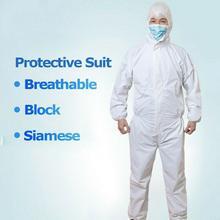 Одноразовый Защитный Костюм Одежда Нетканый Белый Защитный Водонепроницаемый Комбинезон