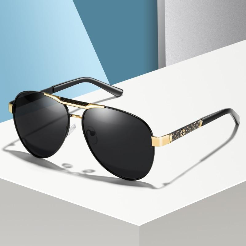 Мужские поляризационные солнцезащитные очки Polaroid, спортивные уличные солнцезащитные очки для вождения, мужские солнцезащитные очки-авиат...