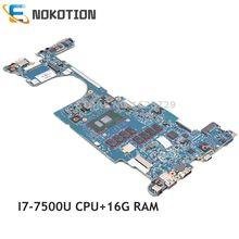 NOKOTION 6050A2848001-MB-A01 Für HP EliteBook X360 1030 G2 Laptop motherboard 920054-601 920054-001 16gb RAM SR341 i7-7500U CPU