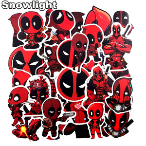 35Pcs/lot Cool Deadpool Marvel Stickers For Laptop Moto Skateboard Luggage Guitar Decal Toy Stickers(China)