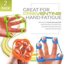 1-3PCFinger Grip Silicone Ring Exerciser Antistress Resistance Band Fitness Stretcher 3Levels Finger Sensory Toy For Autism ADHD