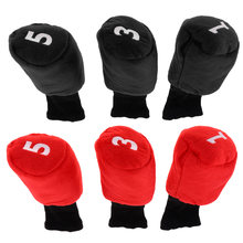 3 pcs Lightweight Head Golf Cover Shock-proof Headcover Golf Accessories for Driver Fairway Wood Head(China)