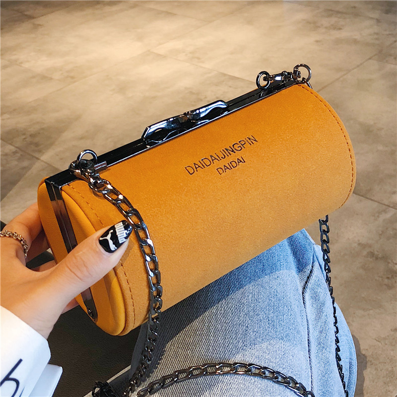 2019 New Women Bag Cylinder Shoulder Chian Bag Crossbody Bag Small Bag Shoulder Bag in Shoulder Bags from Luggage Bags