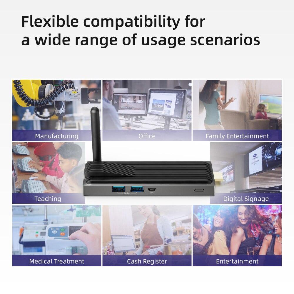 MeLE Fanless Mini PC Stick 4GB LPDDR4 64GB eMMC Intel Celeron J3355 Processor Windows 10 Pro Pre-Installed Pocket PC Stick Support HDMI 4K 2.4//5GHz Dual Band WiFi//Gigabit LAN Port//BT4.2 //USB3.0
