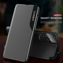 s 21 ultra case leather smart view flip covers for samsung galaxy s21 plus ultra s21+
